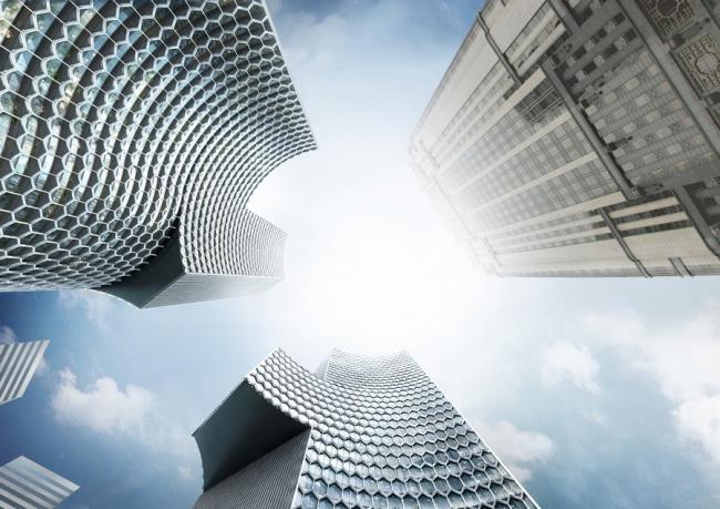 Парные небоскребы DUO © Buro Ole Scheeren