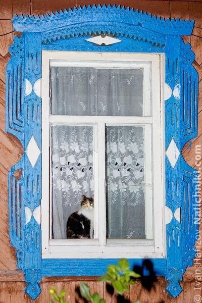 Оконный наличник из Чебоксар. Фотография Ивана Хафизова