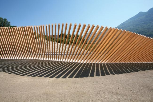 Ограждение на въезде в тоннель Ведеджио-Кассатаре © Cino Zucchi