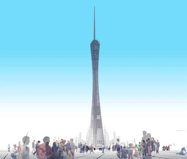 Телевизионная и смотровая башня Гуанчжоу © IBA
