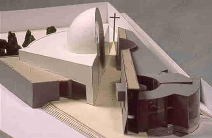 St. Massimiliano Kolbe parish complex. Макет. 1988. Фото: www.sartogoarchitetti.it