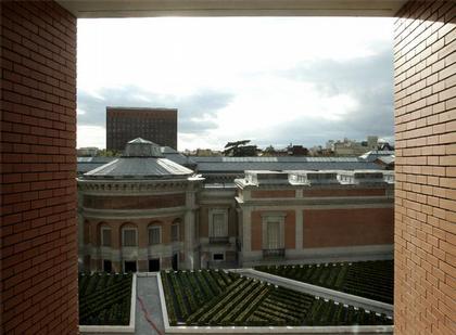 Новый корпус Музея Прадо. Вид из окна