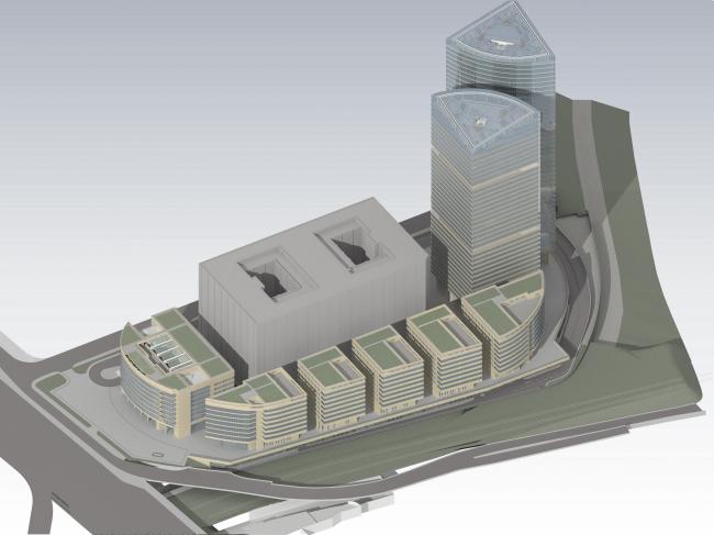 Административно-торговый комплекс на ул. Кульнева. Визуализация. Вариант 2