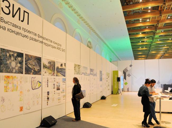 Выставка проекта развития территории ЗиЛа в Манеже. Фотография mosurbanforum.ru