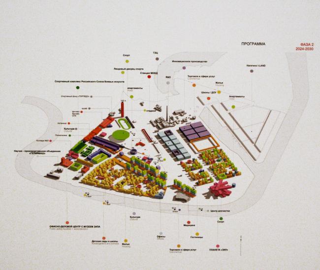 Концепция развития промзоны ЗиЛ. Конкурсный проект бюро «Проект Меганом». Из экспозиции, представленной в Манеже