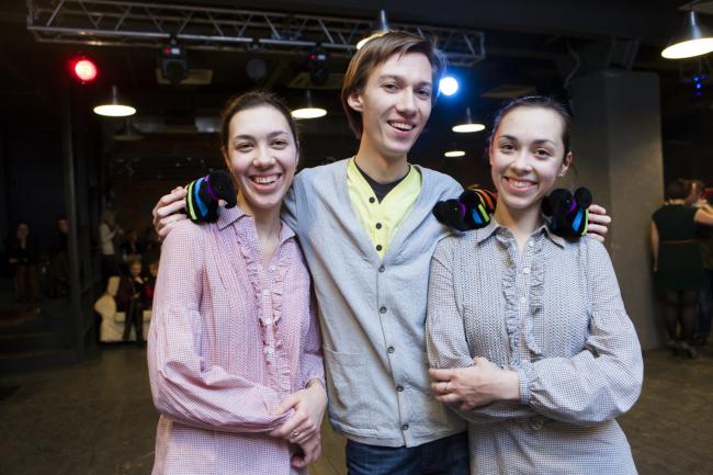 1 место: Илья Чайников, Людмила и Валерия Бастриковы