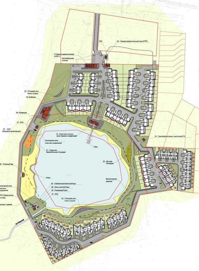 Коттеджный поселок «Рижский квартал». Генеральный план © Архитектуриум