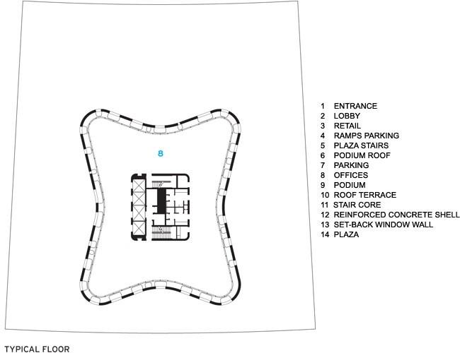 Башня O-14 © Leddy Maytum Stacey Architects
