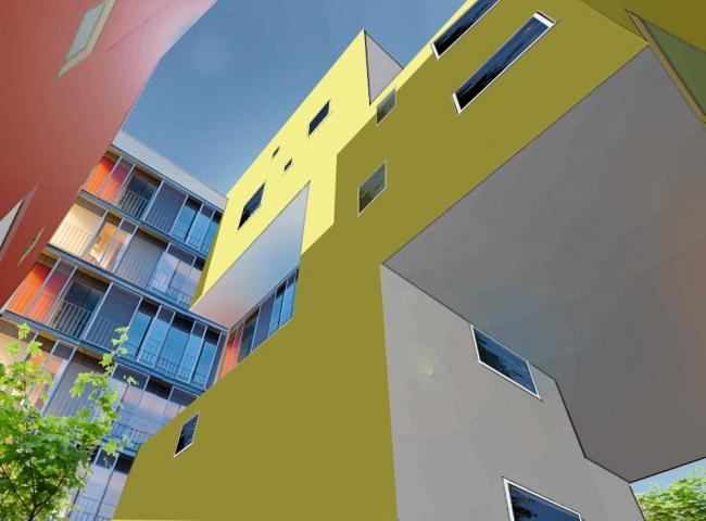 Жилой комплекс «Акварели». Многоцветие внутренних дворов. Проект © АБ «Остоженка»