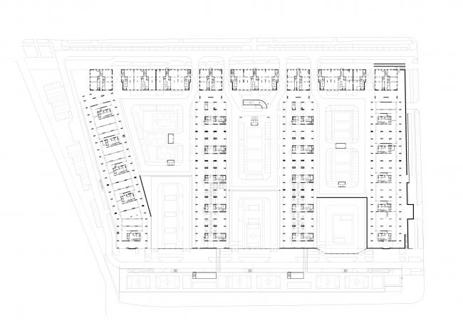 План 0-го этажа. Изображение предоставлено АБ «Остоженка»