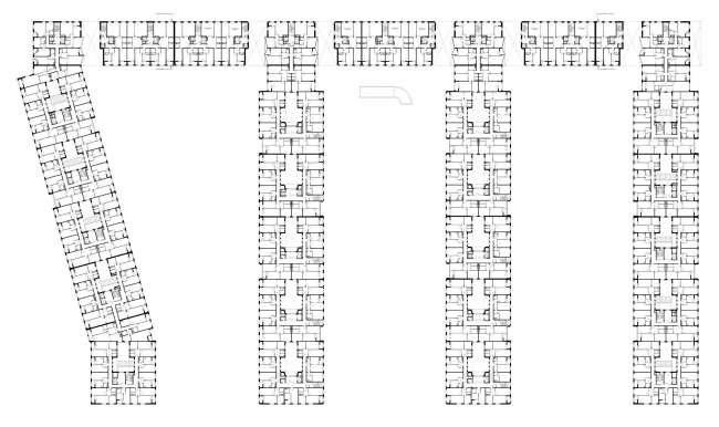 """""""Water Colors"""" residential complex. Plan of the first floor © Ostozhenka"""