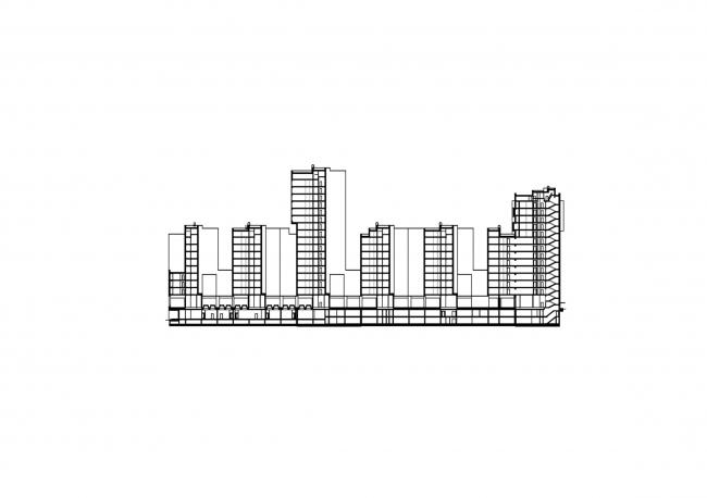 Жилой комплекс «Акварели». Разрез © АБ «Остоженка»