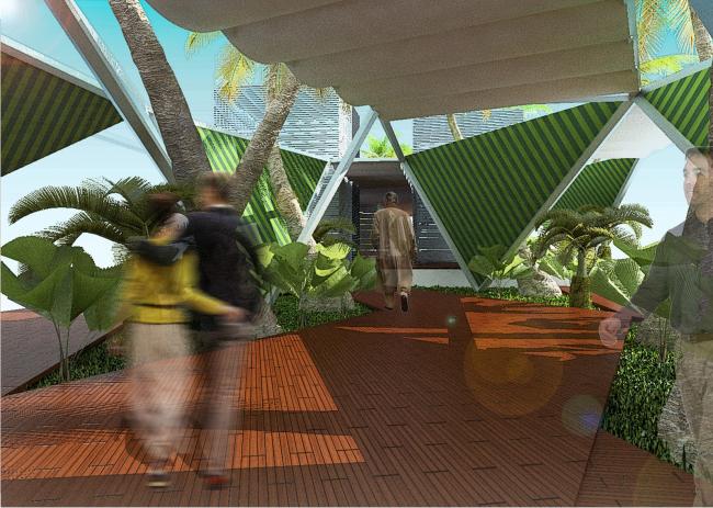 Проект переоборудования кафе в магазин солнцезащитных устройств © ПТАМ Виссарионова