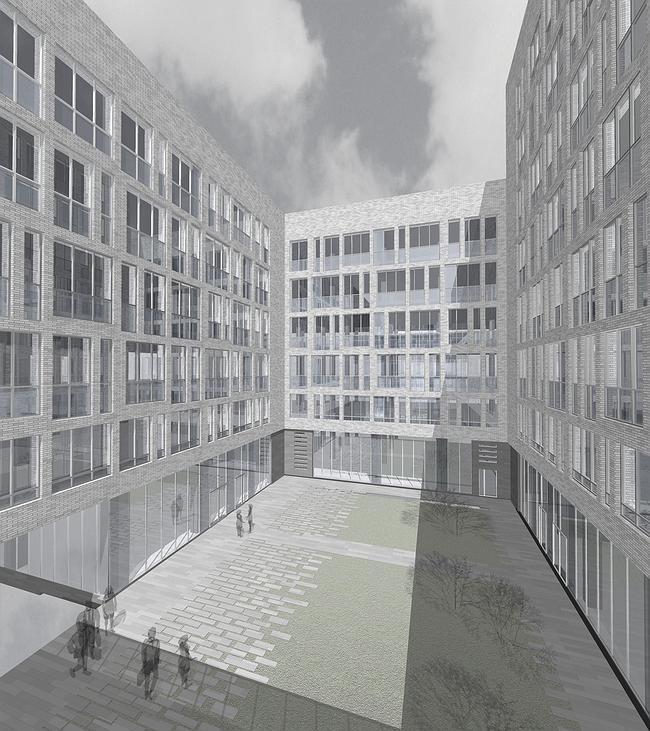 Офисно-деловой и торговый комплекс на Верхней Сыромятнической ул. Проект, 2007 © ADM