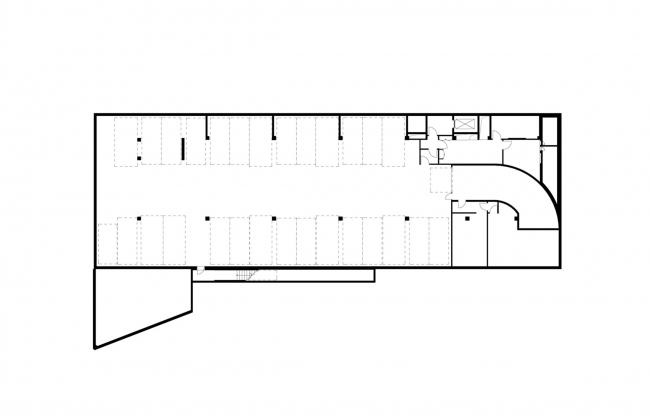 Офисное здание на Пречистенской набережной. План -1 этажа © АБ Остоженка