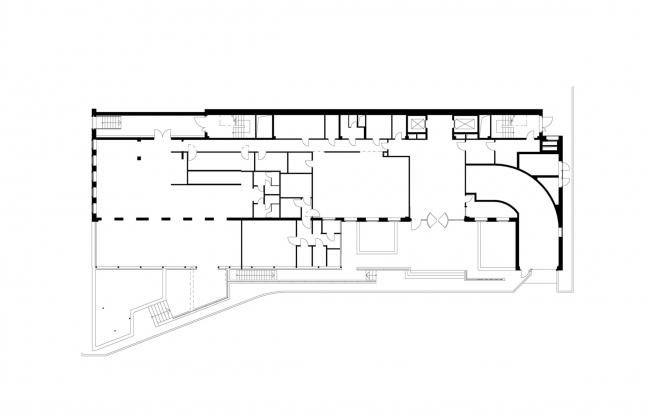 Офисное здание на Пречистенской набережной. План 1 этажа © АБ Остоженка
