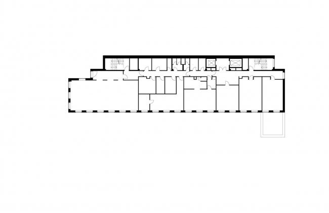 Офисное здание на Пречистенской набережной. План 2 этажа © АБ Остоженка