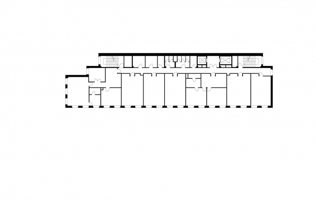 Офисное здание на Пречистенской набережной. План 3 этажа © АБ Остоженка