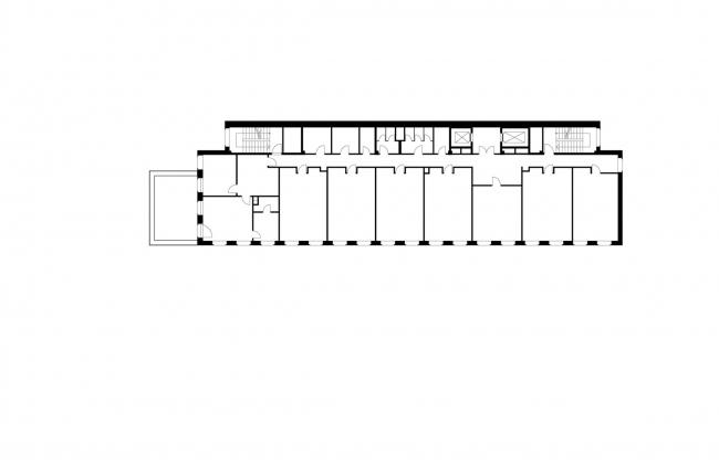Офисное здание на Пречистенской набережной. План 5 этажа © АБ Остоженка