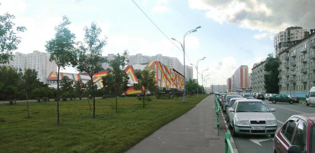 Торговый комплекс в 39 микрорайоне Люблино © АБ Остоженка