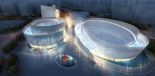 Проект культурного центра Чэнду © Studio Fuksas