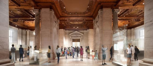 Нью-йоркская публичная библиотека - реконструкция © dbox. Courtesy of Foster + Partners