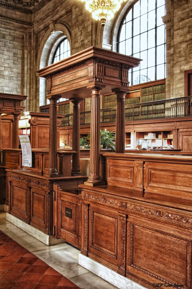 Нью-йоркская публичная библиотека. Читальный зал. Фото © Karen Johnson