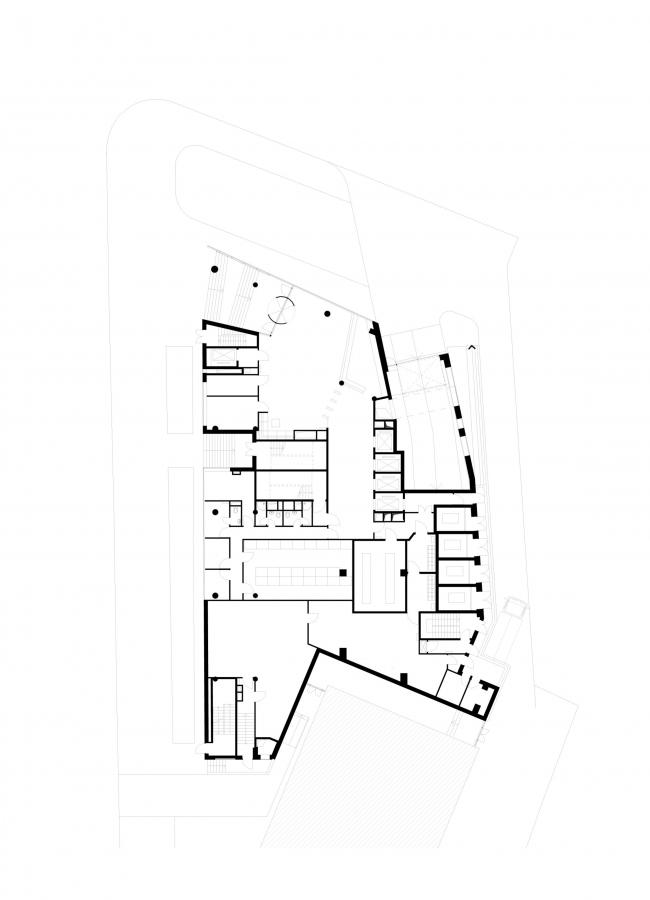 Офисное здание на Трифоновской улице. План 1 этажа © АБ «Остоженка»