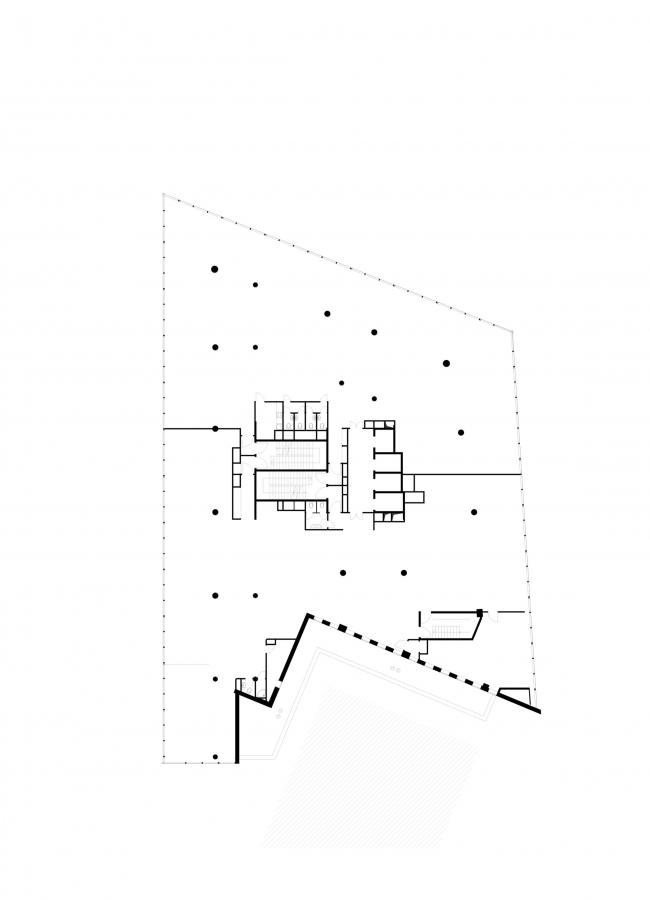 Офисное здание на Трифоновской улице. План 2 этажа © АБ «Остоженка»