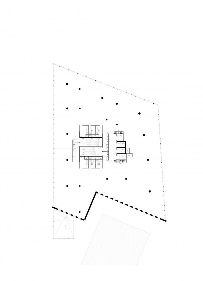 Офисное здание на Трифоновской улице. План 3 этажа © АБ «Остоженка»