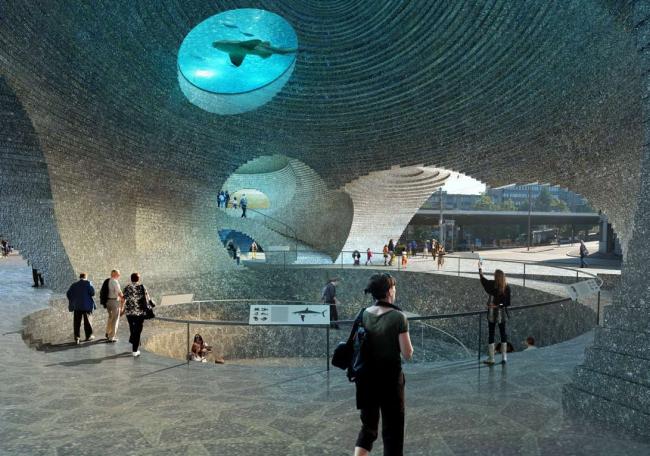Проект HHF architekten и Burckhardt Partner «Водные врата» (Watergate). 2-е место