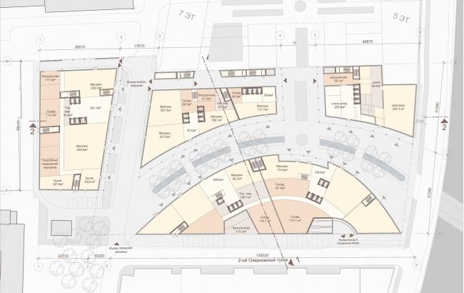 Офисный комплекс «Аквамарин». План первого этажа © SPEECH