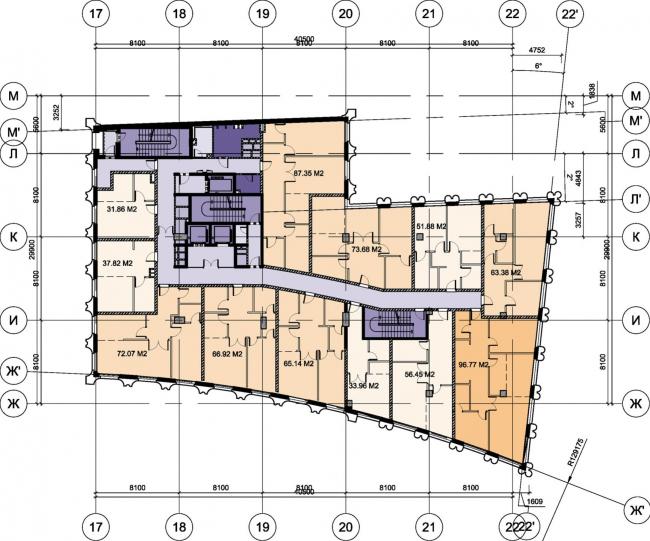 Офисный комплекс «Аквамарин». Строение 1 © SPEECH