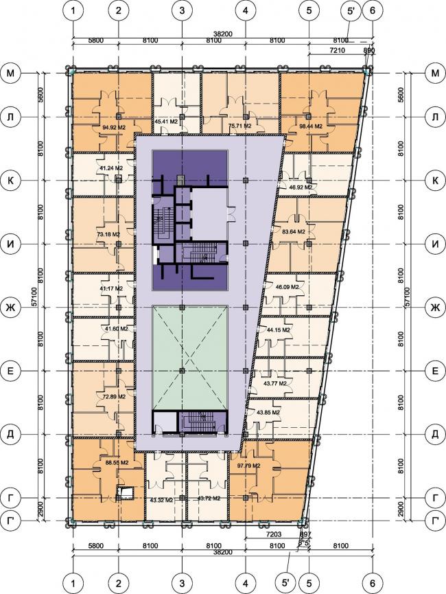 Офисный комплекс «Аквамарин». Строение 3 © SPEECH
