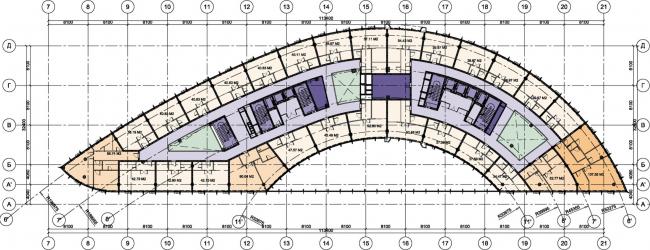 Офисный комплекс «Аквамарин». Строение 4 © SPEECH