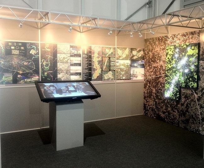 Стенд Antoine Grumbach et Associes на выставке проектов развития Большой Москвы
