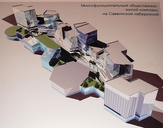 Многофункциональный общественно-жилой комплекс на Саввинской набережной - часть проектов, входящих в планы градостроительной реорганизации территории от Нескучного сада до Сити