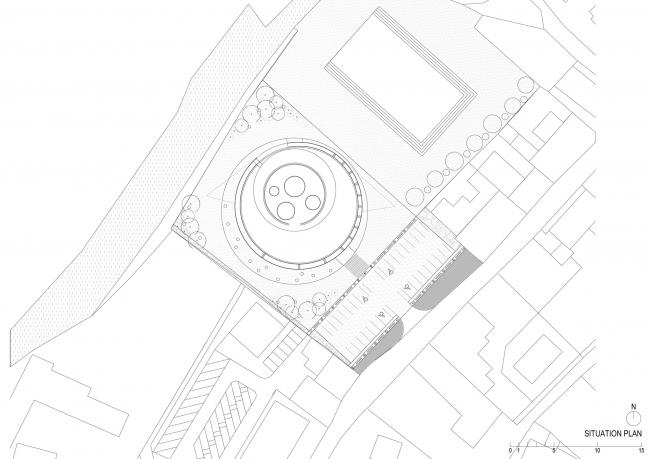 Культурный центр Европейских космических технологий. Предоставлено OFIS arhitekti
