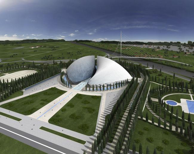 Университет Тор Вергата (Рим II). Спорткомплекс «Город спорта» © Santiago Calatrava Architects & Engineers