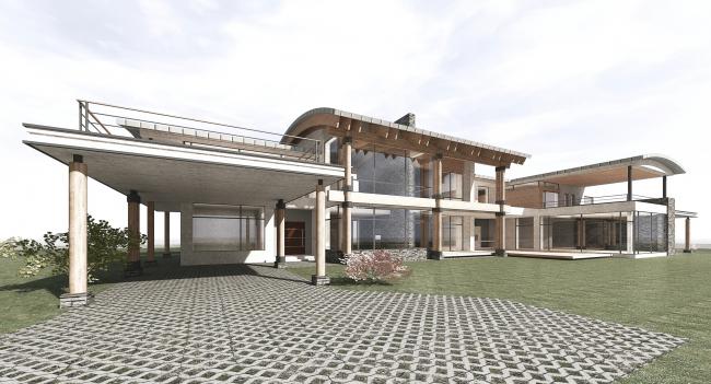 Проект загородного жилого дома в Подмосковье