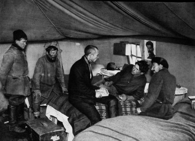 Палаточный лагерь строителей Магнитогорского металлургического комбината. (фотография датирована началом 1930-х гг.) Источник: // USSR im bau. 1932. № 1.