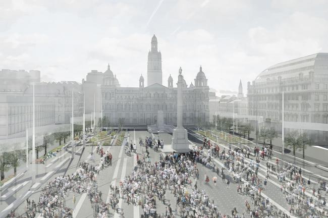 Реконструкция площади Джордж-сквер © John McAslan & Partners