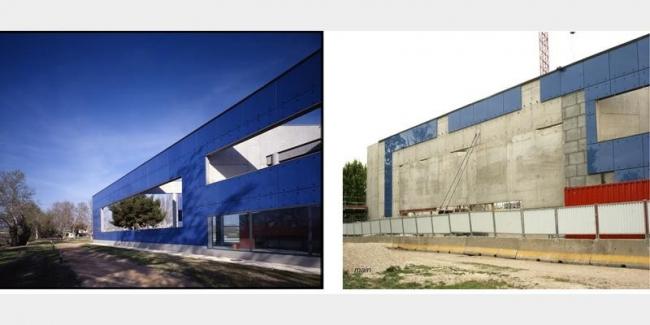 Музей в Арле до и после «реконструкции». Фото с сайта bdonline.co.uk