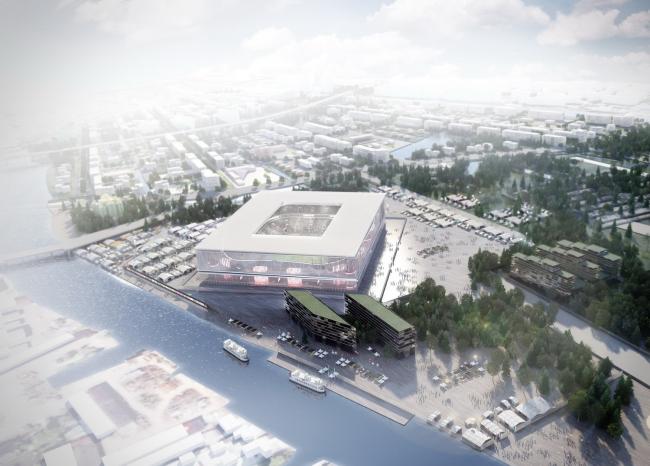 Стадион Чемпионата мира по футболу 2018 в Калининграде © Wilmotte & associés