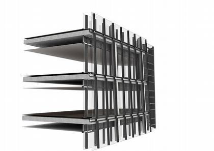 Штаб-квартира компании CMA CGM. Схема конструкции © Zaha Hadid Architects