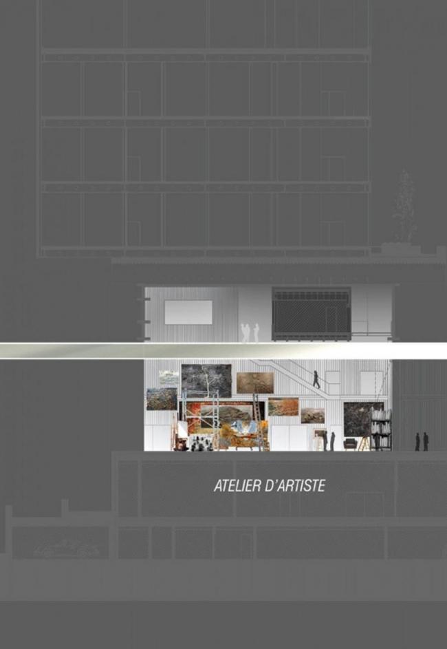 Центр искусств R4 © Ateliers Jean Nouvel