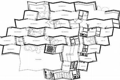 MUSAC. План первого этажа