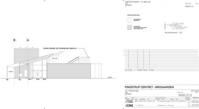 Гостиница Brohuset образовательного центра Pindstrup Centre © C.F. Møller Architects