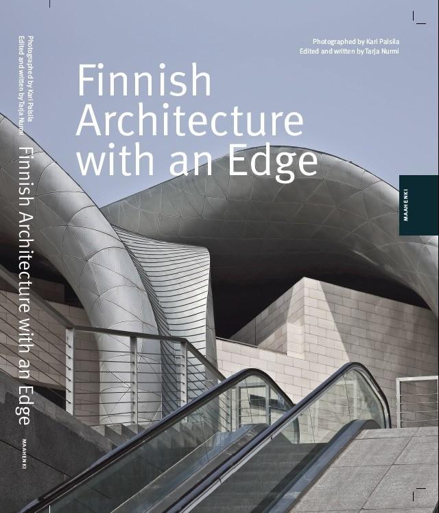 Обложка книги Finnish Architecture with an Edge с фотографией Большого театра в Уси PES-Architects