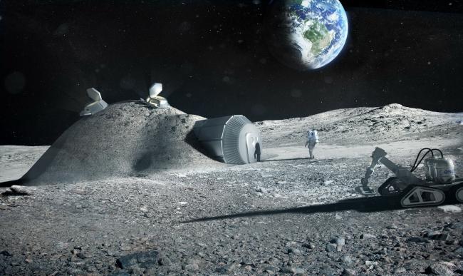 Лунная база Европейского космического агентства © Foster + Partners